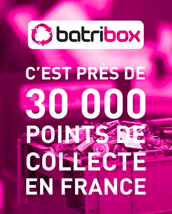 Points de collecte Batribox partout en France
