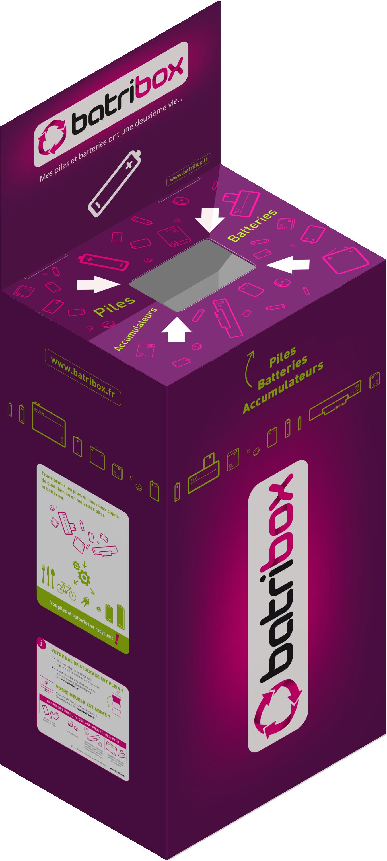 Collecteur de piles et batteries usagées Batribox