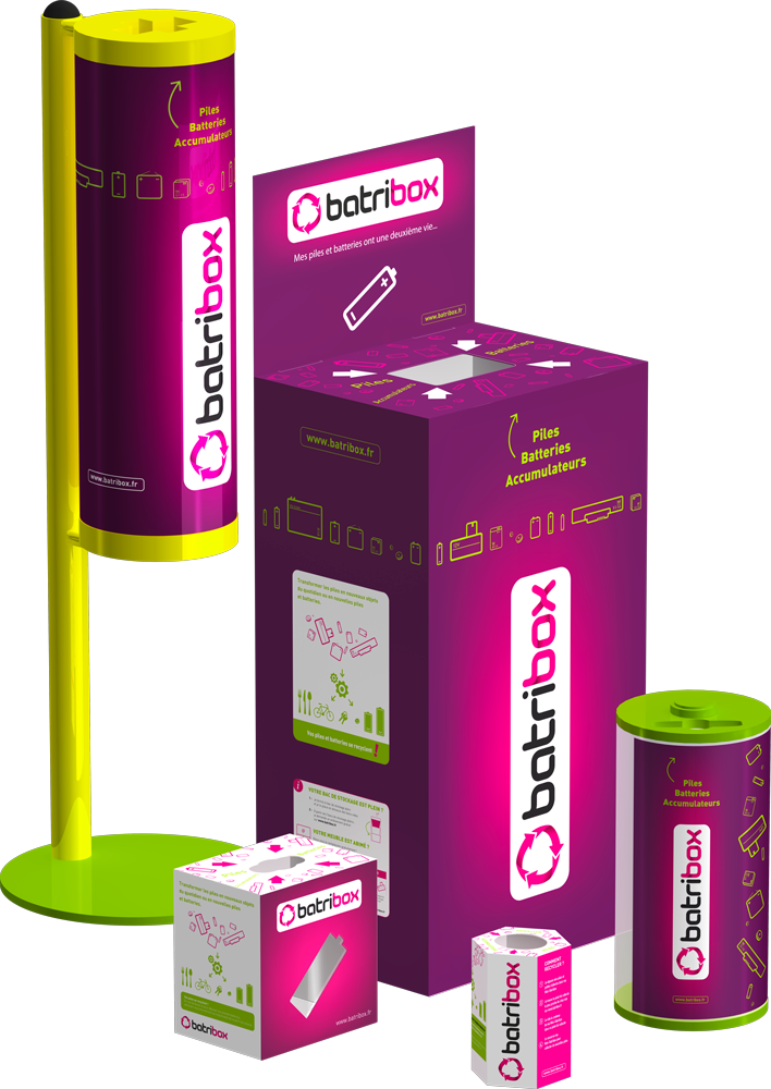 Déposer ses piles et batteries usagées dans les collecteurs Batribox